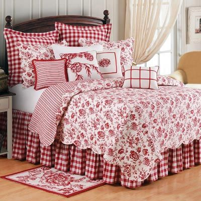 Bedding | Devon Cranberry Bedding | Atlantic Linens