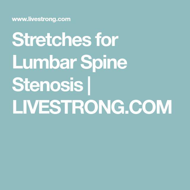 Stretches for Lumbar Spine Stenosis | LIVESTRONG.COM