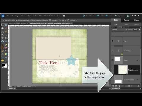 Digital Scrapbooking HQ - Photoshop Elements 10 Move Tool