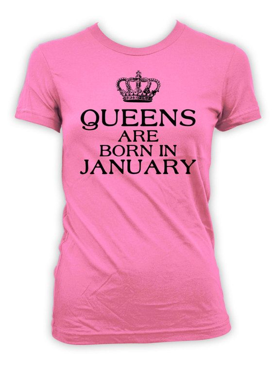 January Birthday T-Shirt - Personalize T-Shirt with Month of Birth!  >> IF YOUD LIKE TO CUSTOMIZE THE MONTH, PLEASE LEAVE A NOTE AT CHECKOUT <<  Thanks for stopping by BirthdayGoodiesShop. I sell apparel to celebrate life's greatest moments. My products are completely customizable. Whether you're looking for a different year, age or print color, I am happy to personalize your order at no additional charge.  BE SURE TO include any personalization notes (ie, dates, age, names) at ch...