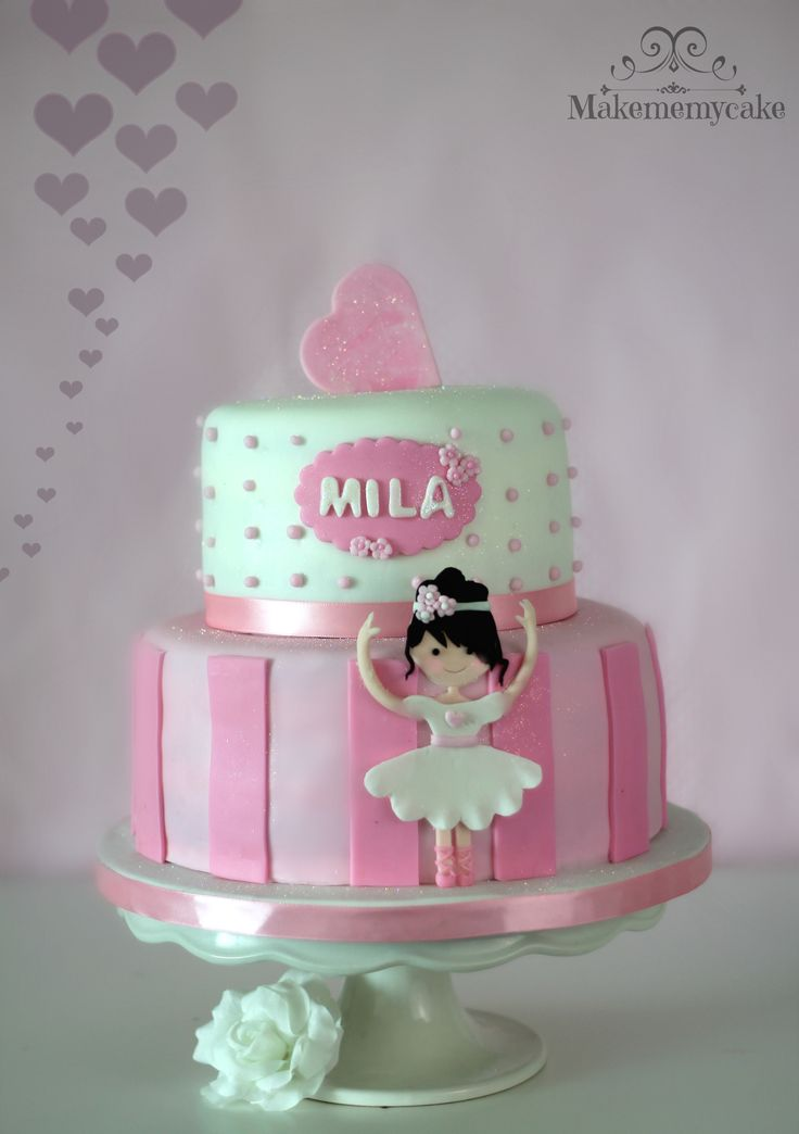 Ballerina cake - Simple sweet ballerina cake special for this loving week