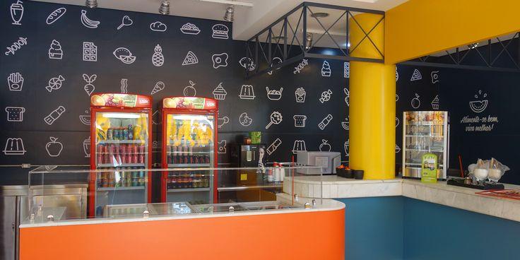 #signage #pattern #icon #ícones #graphicdesign #colors #anchieta #musendesign #designqueinspira #restaurant #food #bar #school #sinalização #signagedesign