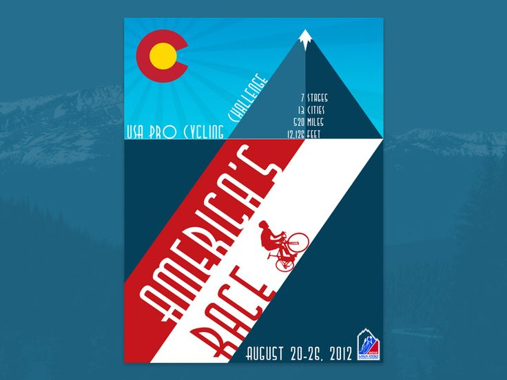 USA Pro Cycling Challenge Poster:   Poster submission I did a while back for the USA Pro Cycling Challenge stage race in Colorado.