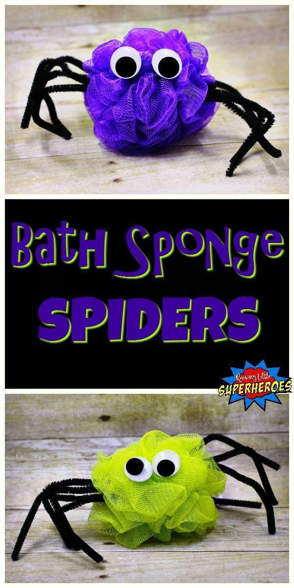 Creepy Crawly Bath Sponge Spiders