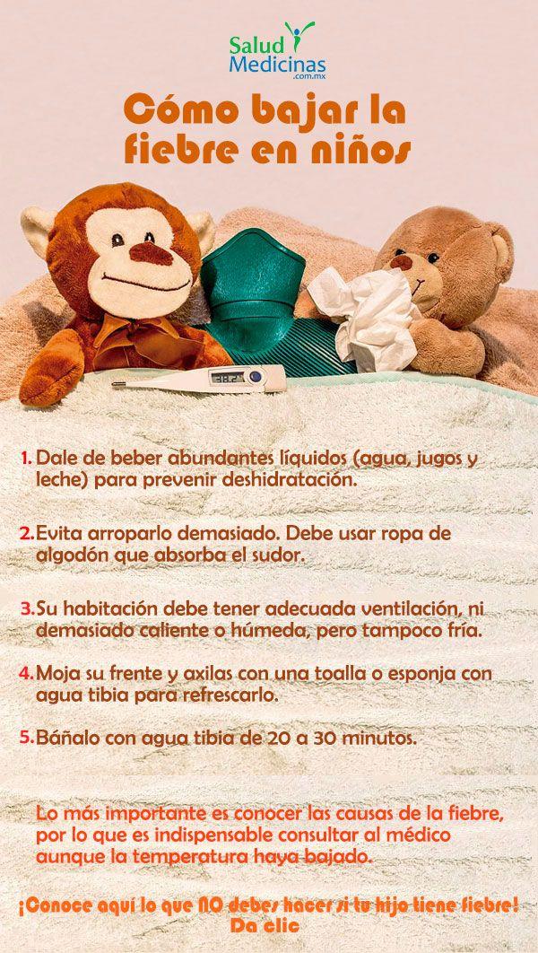recomendaciones para bajar la fiebre en niños