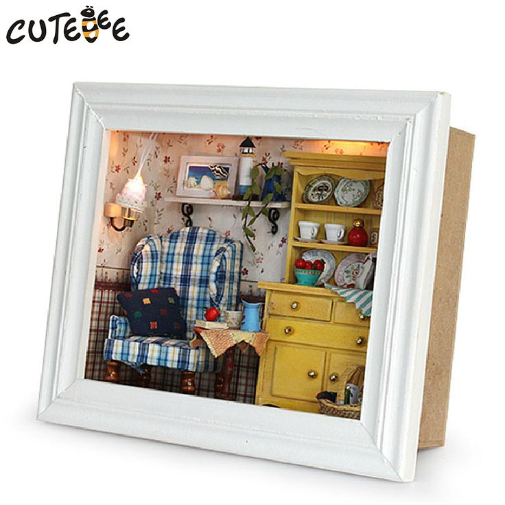DIY Doll House Wooden Doll Houses Miniature DIY dollhouse Furniture Kit photo frame handmade toys for child gift holiday
