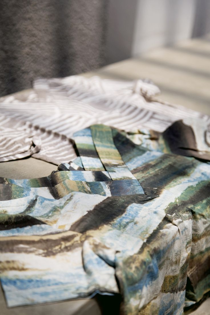 Camouflage Pleated Top by IMAJI Studio, #naturaldye