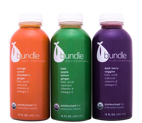 A new prenatal juice for moms to be with tons of vitamins and minerals.