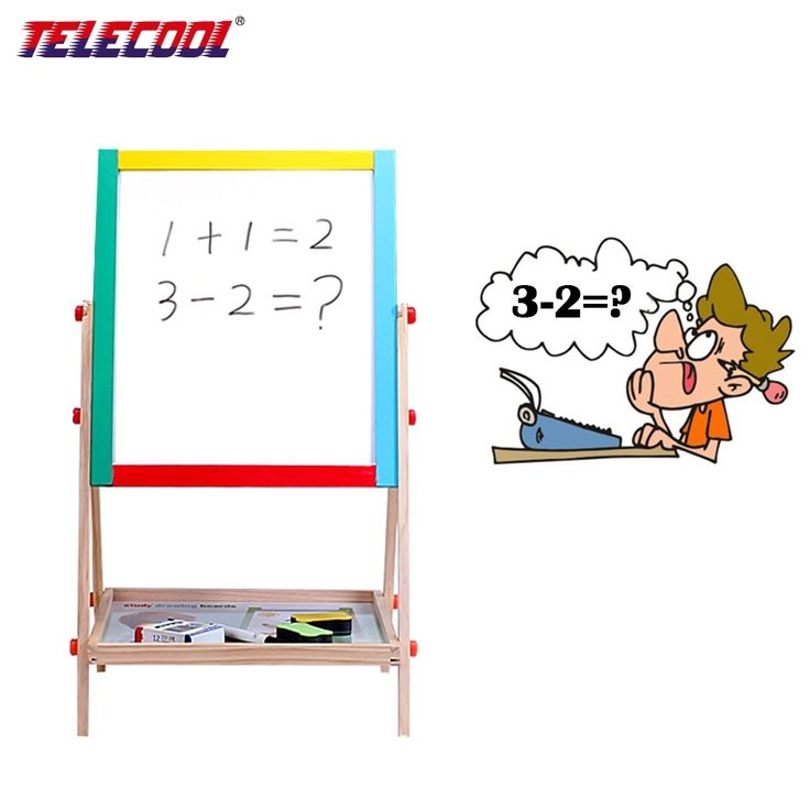 49.51$  Watch here - http://aikhb.worlditems.win/all/product.php?id=32796214394 - Wooden Double-sided Magnetic Drawing Board Writing Board Sketchpad Easel Fantastic  Blackborad Educational Kid Toys
