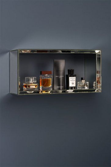 Mirrored Rectangular Wall Shelf  -Uno
