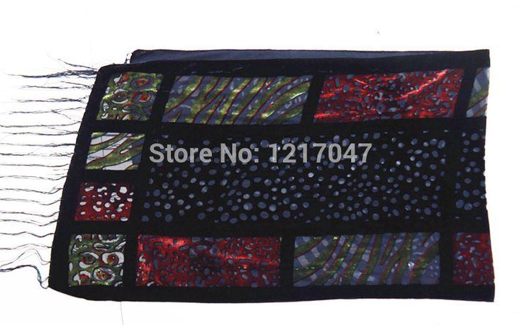 Женщины leopard печати выгорания бархатный шарф шелковый платок осень и зимой…