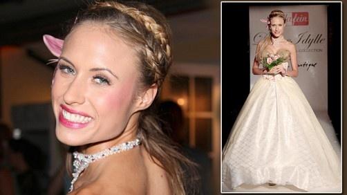 Alena Gerber wearing a TVT Couture Wedding Dress