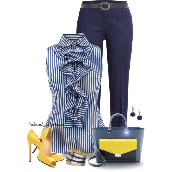 A fashion look from May 2015 featuring Karen Millen tops, Jil Sander Navy capris and Christian Louboutin pumps. Browse and shop related looks.
