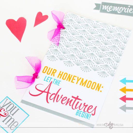 Printable Honeymoon Journal - Let the adventures begin... so CUTE!