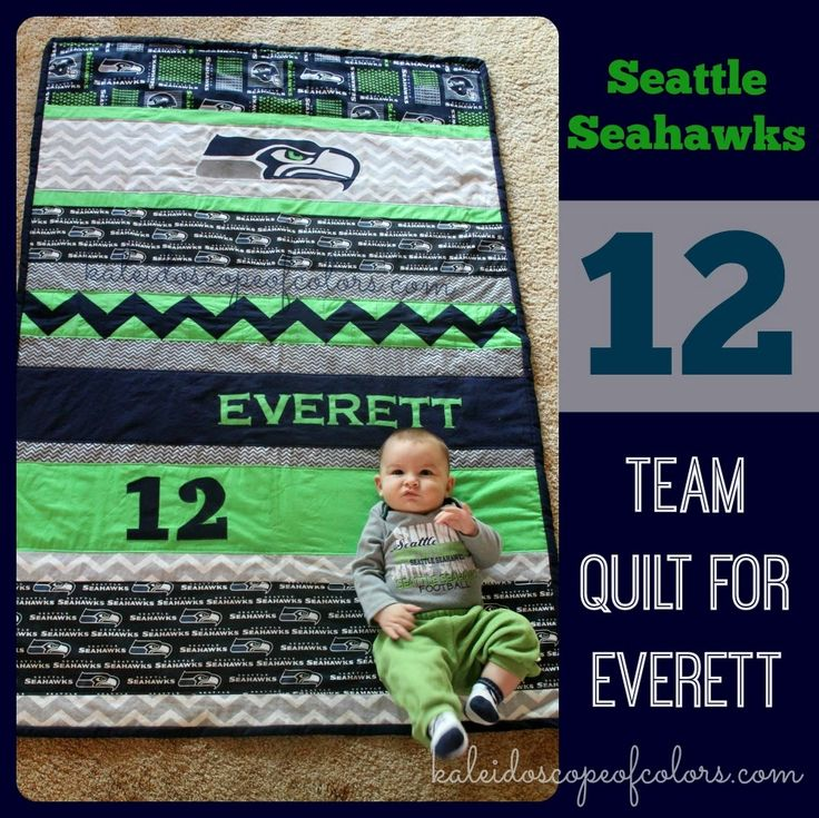 Kaleidoscope of Colors: Seattle Seahawks Team Quilt for Everett