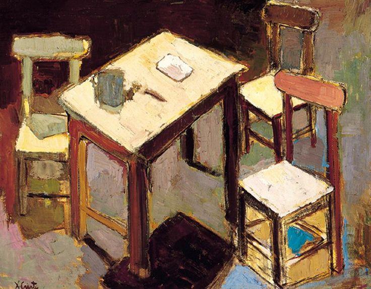interior con sillas