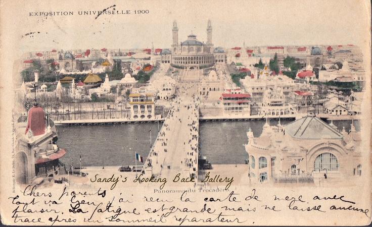Carte Postale Paris Exposition Universelle 1900 Panarama du Trocadero