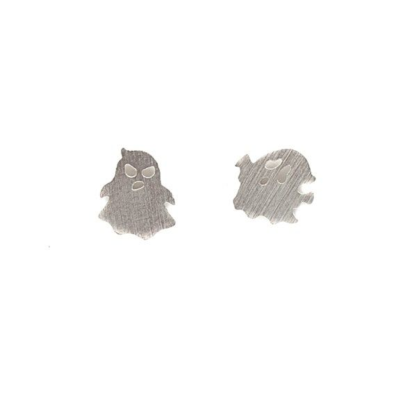 Ghost Silver Stud Earrings by Pigeonhole. http://aslanandleo.com/product/ghost-silver-stud-earrings-by-pigeonhole/
