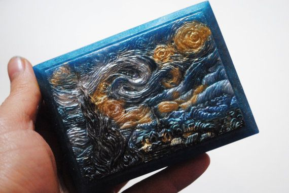 Handmade inspired 'Starry Night' parody Soap  Vincent by NerdySoap