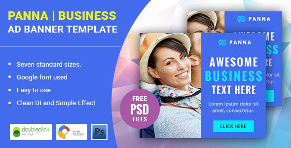Panna   Business HTML 5 Animated Google Banner - CodeCanyon Item for Sale