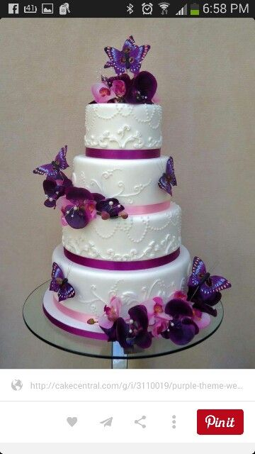 Butterfly purple cake