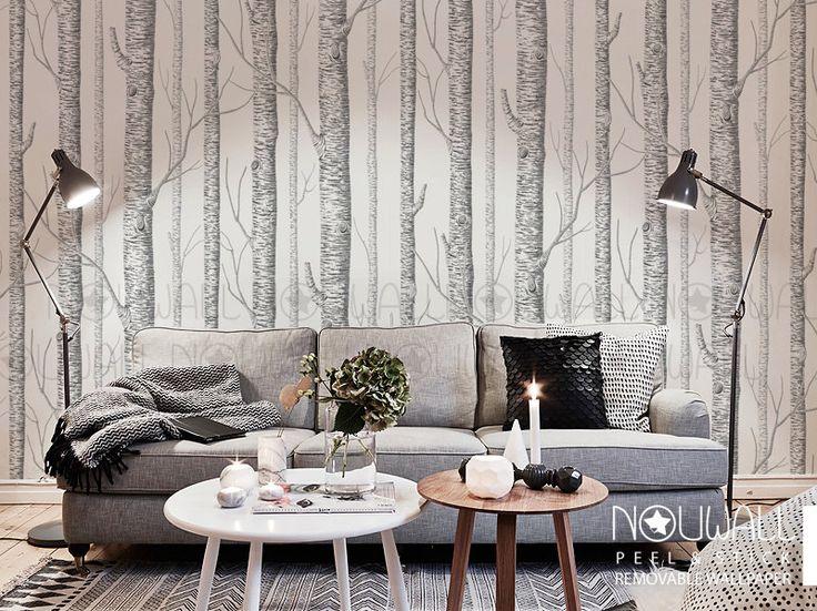 Autocollant de mur - mur decal - Birch Tree Peel & Stick Wallpaper par NouWall sur Etsy https://www.etsy.com/ca-fr/listing/233845842/autocollant-de-mur-mur-decal-birch-tree