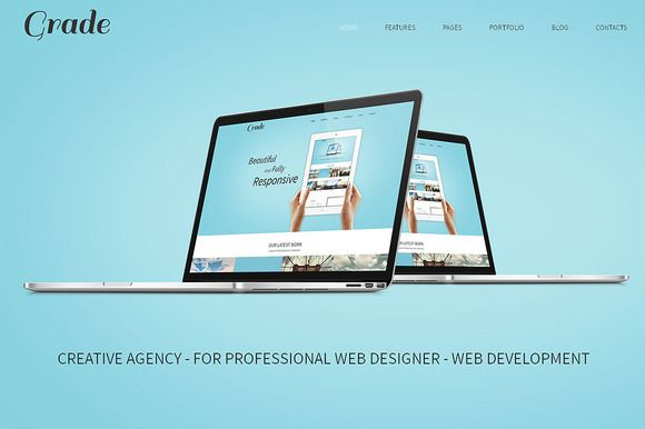 Check out Grade Responsive Bootstrap Template by IceTemplates on Creative Market