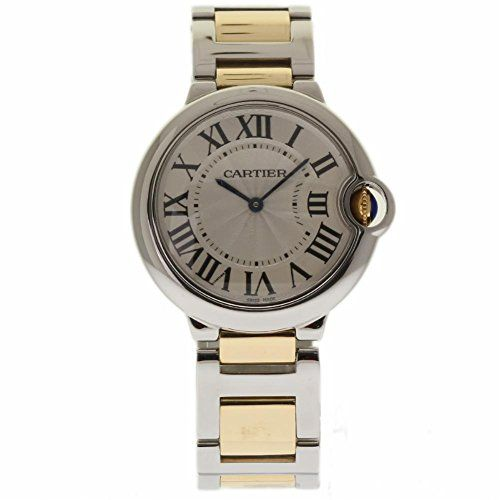 Price:       (adsbygoogle = window.adsbygoogle || []).push();  Cartier Ballon Bleu Unisex Steel and Gold W6920047. Stainless steel case with a stainless steel bracelets with yellow gold center links. Fixed stainless steel bezel. Guilloche dial with blue steel hands and Roman numeral hour...