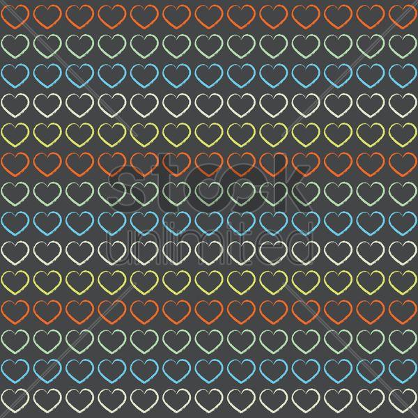 love shape pattern background Stock Vector