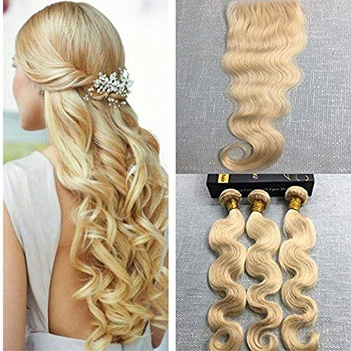 1629 best curly hair care images on pinterest 100 human hair ugeat brazilian body wave weft hair 613 bleach blonde 3 bundles with free part lace closure human hair weave 100 unprocessed 7a hair 12 12 128closure you pmusecretfo Choice Image