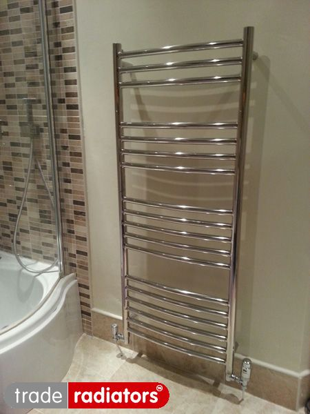 Paul Hartley S Curved Stainless Steel From Trade Radiators Find This Pin And More On Heated Towel Rails