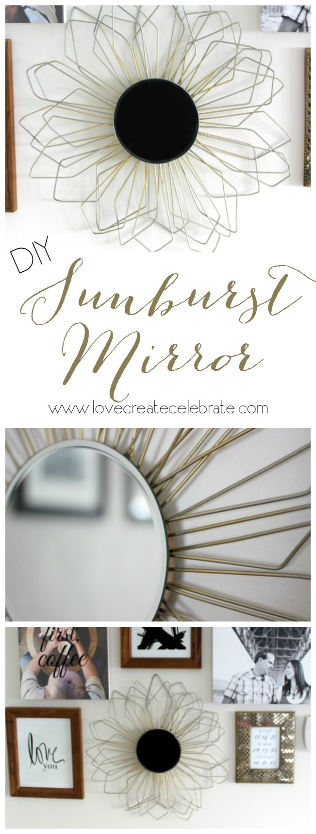 I would LOVE to make this beautiful Anthropologie inspired DIY mirror for any room in my home!