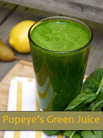 Popeye's Green Juice Recipe