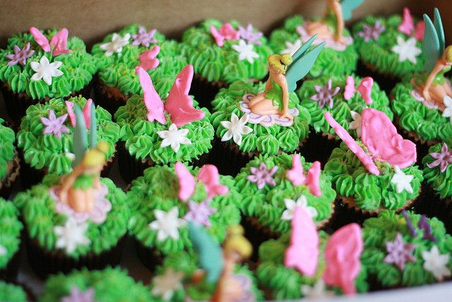 tinker bell cup cakes