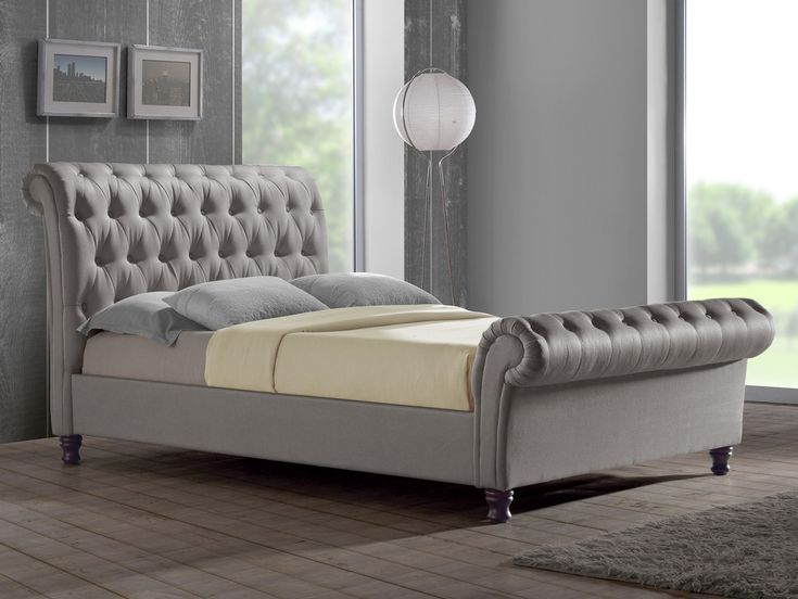 Birlea Castello Super king Size Grey Fabric Bed Frame