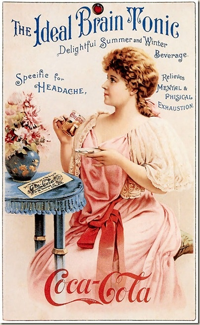 Mar. 29, 1886, Coca-Cola is created by John Pemberton in Atlanta, GA, as a hangover cure and a stomach ache/headache remedy. Cocaine was an ingredient of Coke until 1904 when Congress banned it.