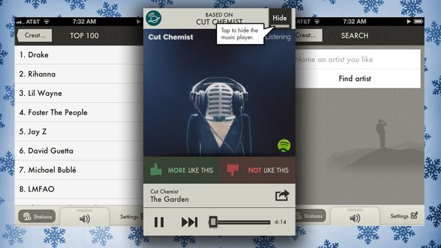 SpotON Radio Is an Easy to Use Spotify Radio App for iPhone - You need a premium acct. though to use it.