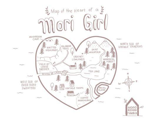 Mooorichan.tumblr.com -- map of the heart of a mori girl