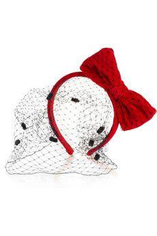 REDValentino Velvet and point d'esprit bow headband | NET-A-PORTER