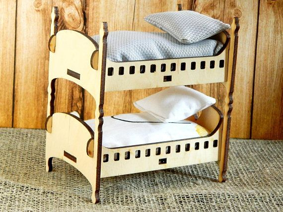Bunk Bed For Dolls Wood Bed For Dolls Wood Baby Doll Bed Wood