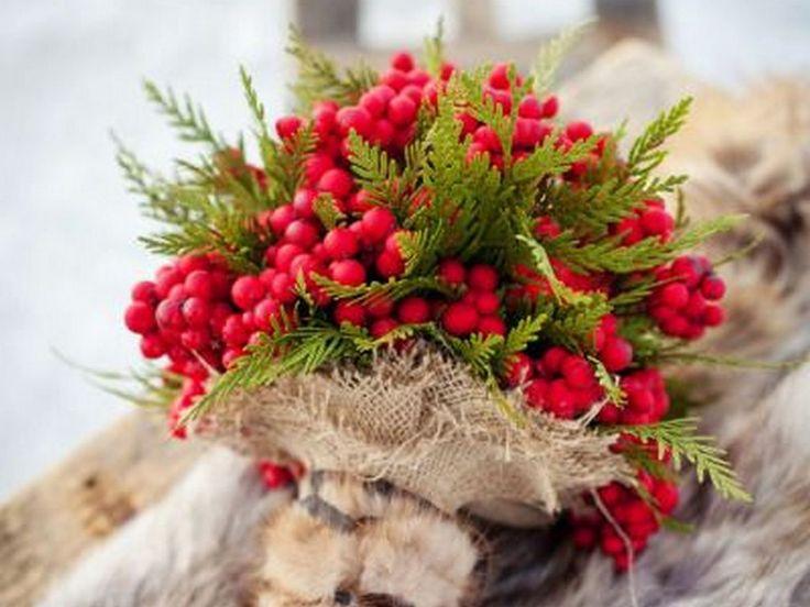 Зимний букет невесты, свадебный букет невесты зимой, букет невесты зимой - Lawedding