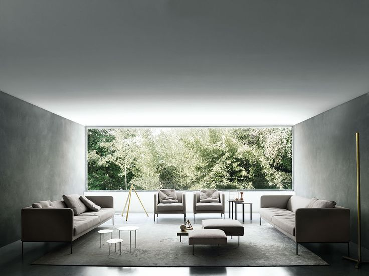 Easy Lipp Sofa And Armchair, Design Piero Lissoni, Carpet Sin Titulo