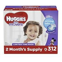 Huggies Little Movers Size 4 (22 - 37 lb.) Mega Colossal Pack (312 ct.)