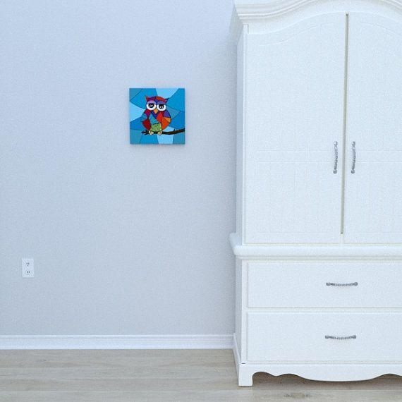 Canvas of Owl by Decoludik on Etsy