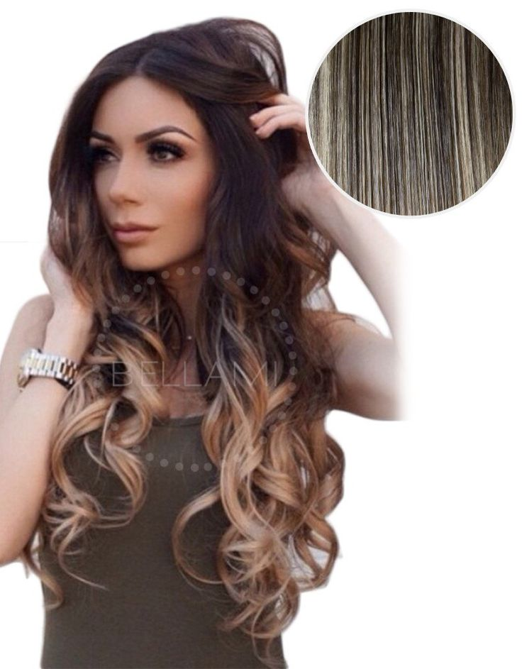 "Balayage 160g 20"" Ombre Hair Extensions #1C Mochachino Brown/ #18 Dirty Blonde"