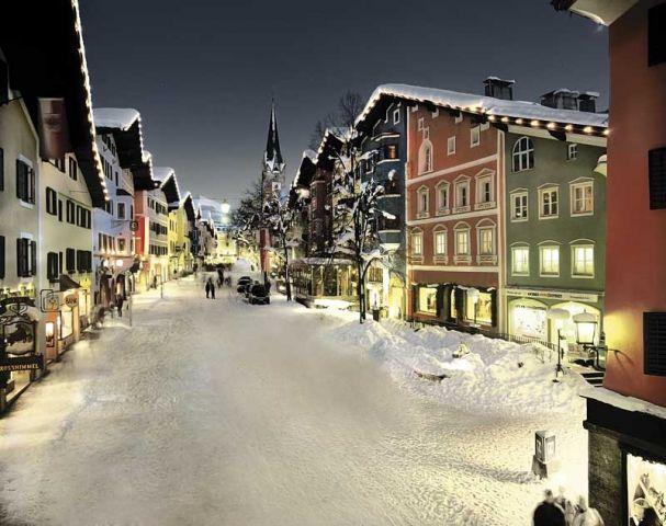 Kitzbuhel in winter - famous Austrian ski village