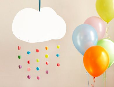Cloud with Rainbow gumdrop rain decoration: Kids Parties, 4Th Birthday, Rainbow Birthday Parties, Rainbows Cloud, Gumdrop Cloud, Rainbows Birthday Parties, Rainbows Parties, Parties Ideas, Parties Decor