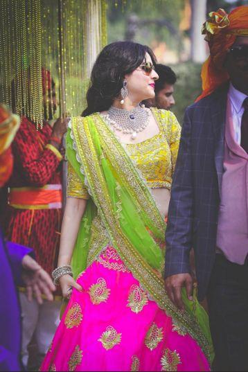 Pop Colours Gota Patti Embroidered Lehnga Set by Preeti S Kapoor