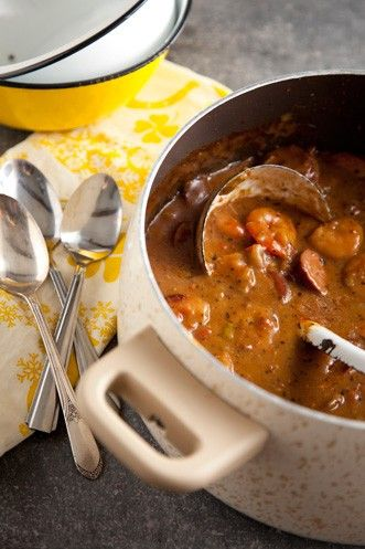 This thick and rich Shrimp Gumbo recipe is perfect for a cool summer night #comfortfood