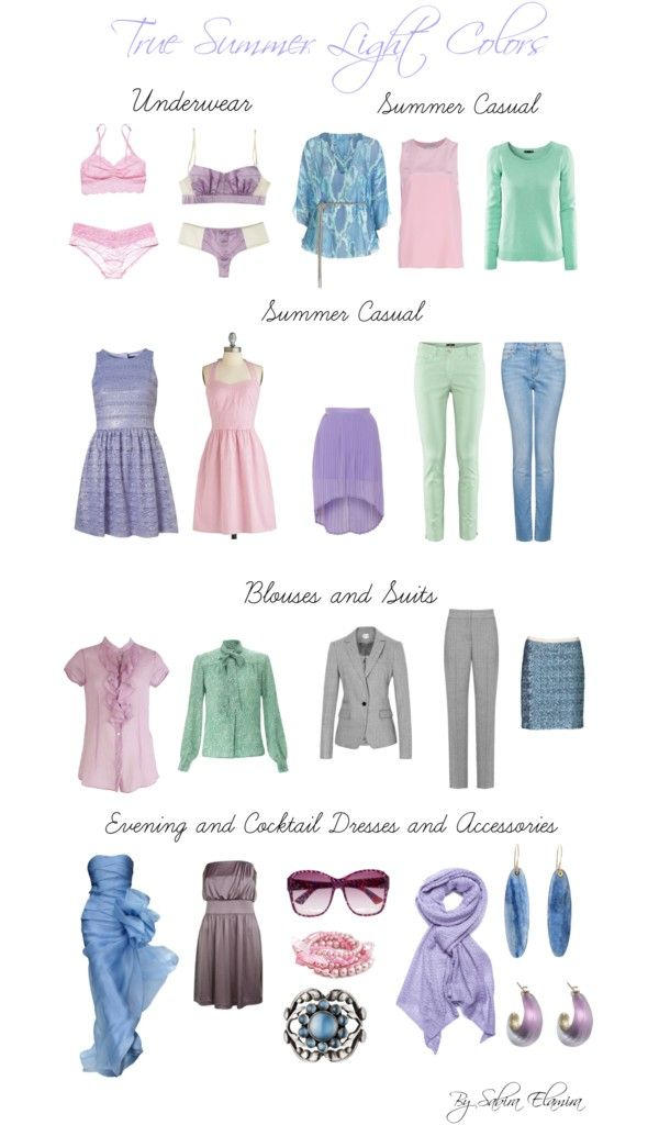 """""""True Summer Light colors"""" by sabira-amira ❤ liked on Polyvore"""